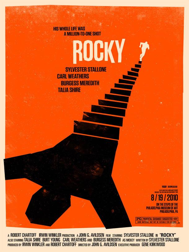Posters de Cinema minimalistas - Olly Moss - Rocky