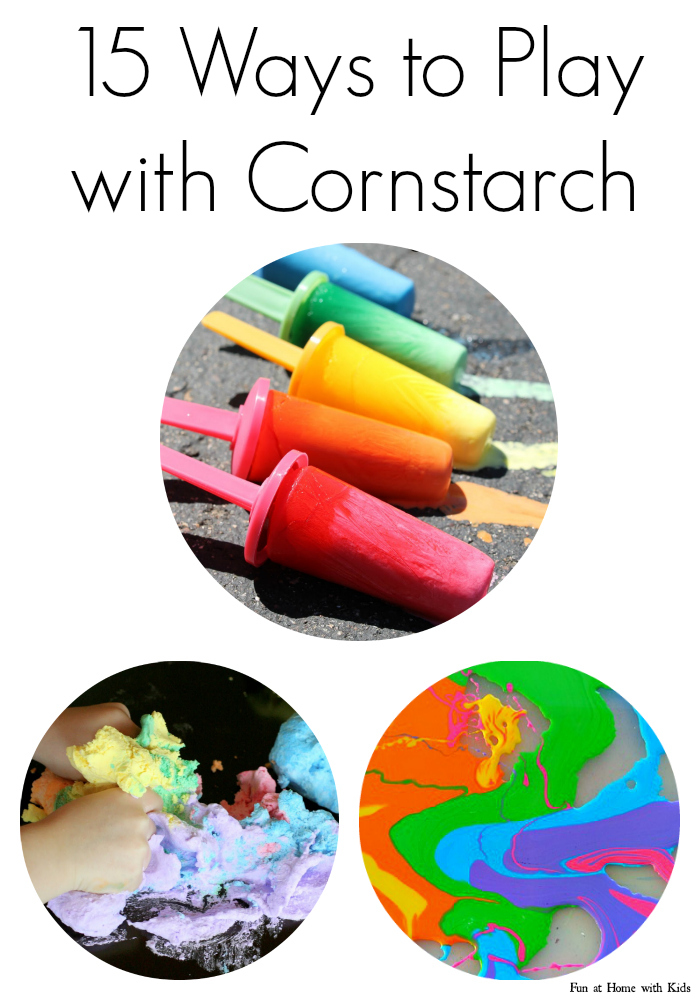 15 ways to play with cornstarch cornflour for Fun projects for kids to do at home