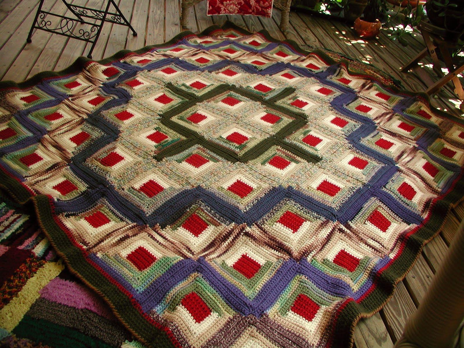 Fiddlesticks my crochet and knitting ramblings tah for Log cabin blanket