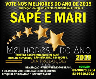 VOTE NOS MELHORES DE SAPÉ E MARI 2019