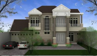 Design Rumah Klasik eropa minimalis