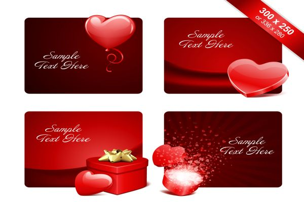 Heart Valentine Day Romantic Elements Vector