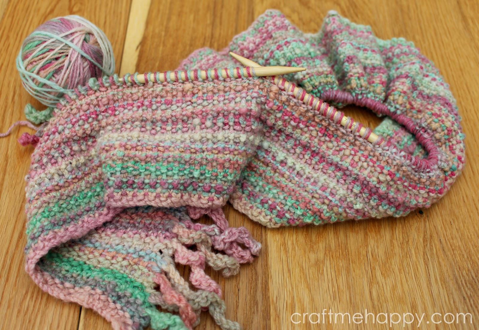 Knitting Yfwd Sl1 : Knitted bouclé stitch craft me happy