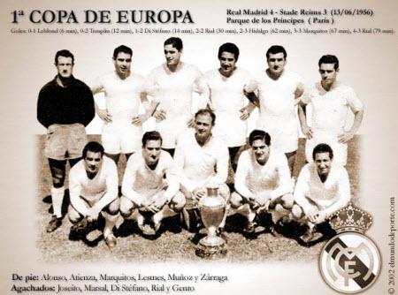 Equipo campeón de la primer Champions League en 1955
