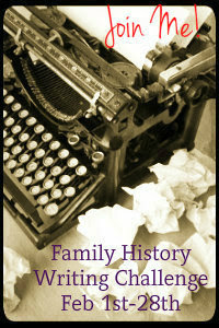2013 Family History Writing Challenge
