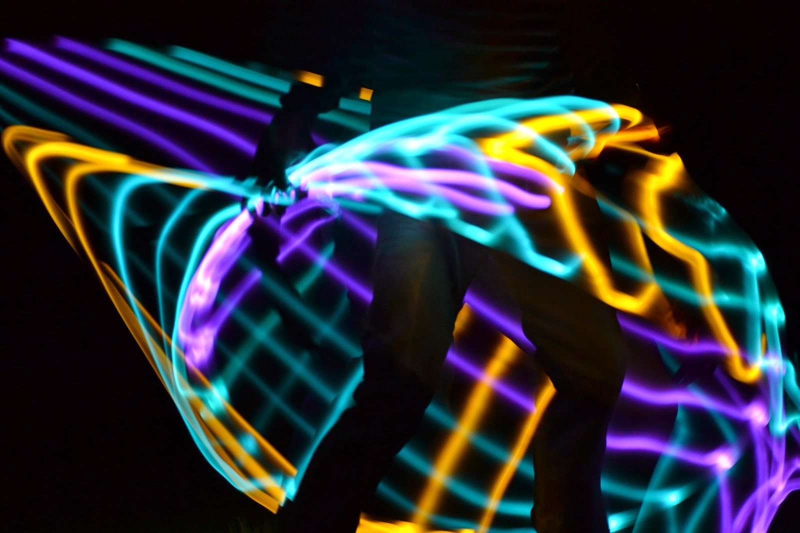 LED Hula Hoop Negative Person