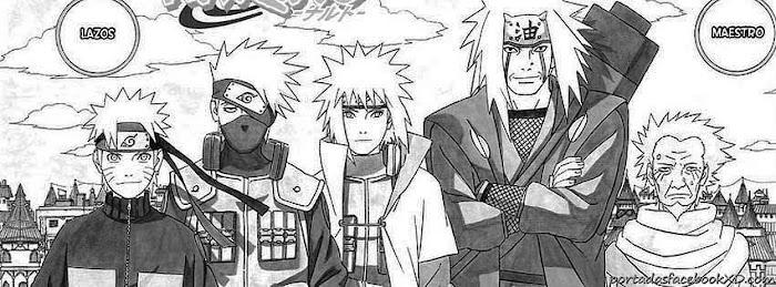 Naruto shippuden y sus maestros, kakashi, minato, jiraiya y el tercero,imagen de portada, foto para facebook