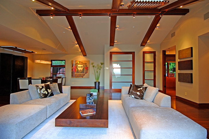 Upper floor living room in Calvin Harris's new celebrity house