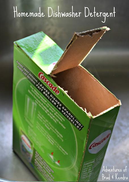 DIY Homemade Dishwasher Detergent
