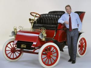 Ford's oldest car with owner Bill Ford