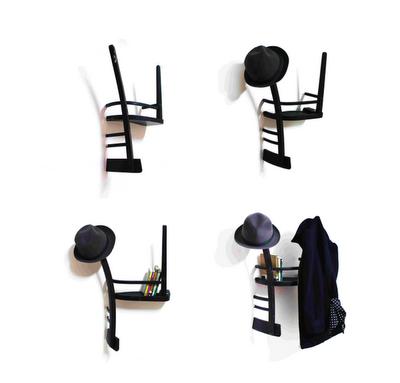 Reciclar una vieja silla pared