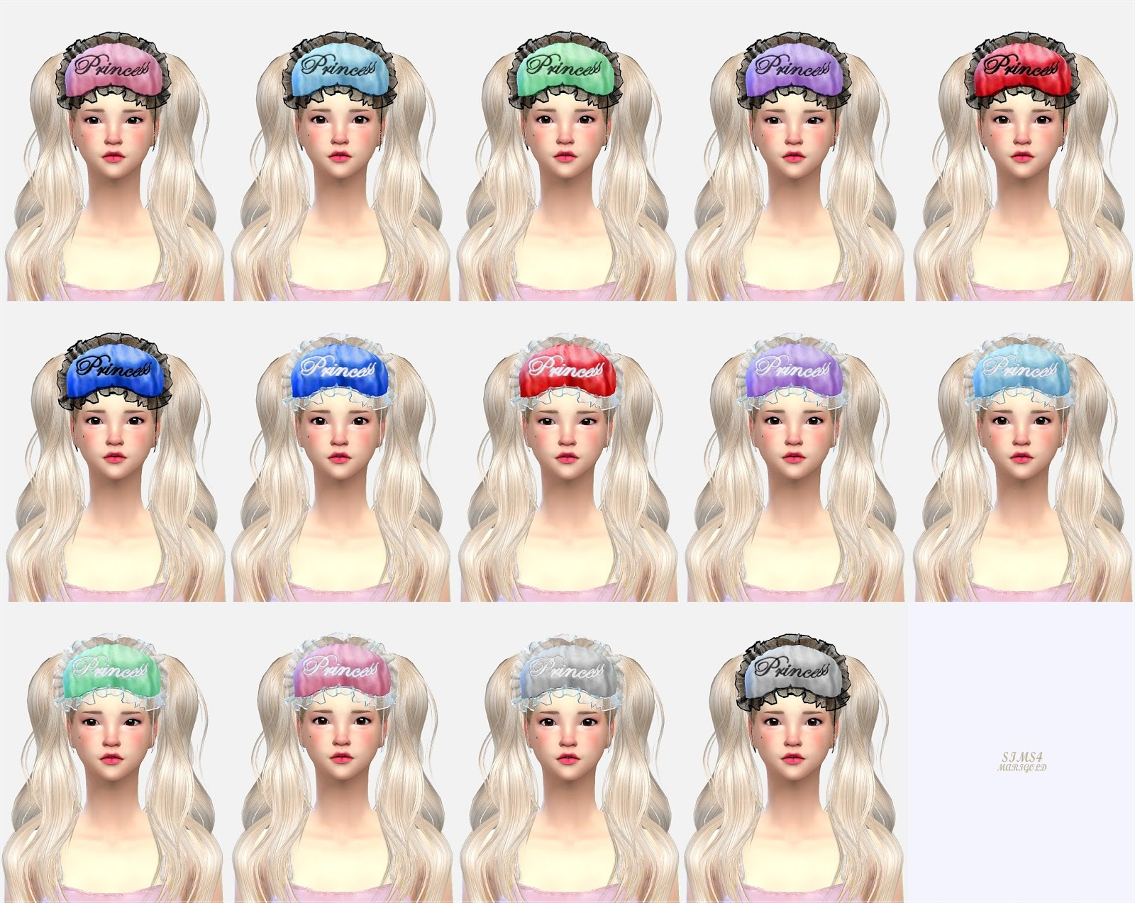 The sims 4 hair accessories - Sleeping Masks And Hair Accessories By Sims 4 Marigold