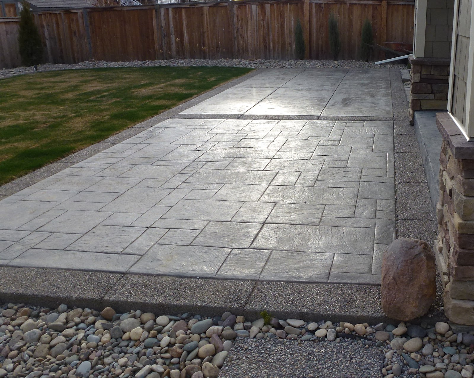 Sundre Concrete Works Ashlar And Slate Stamped Concrete