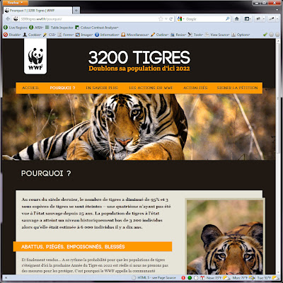 Screen shot of http://3200tigres.wwf.fr/pourquoi/.