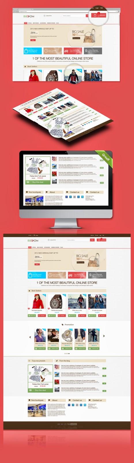 Free E-commerce PSD Template