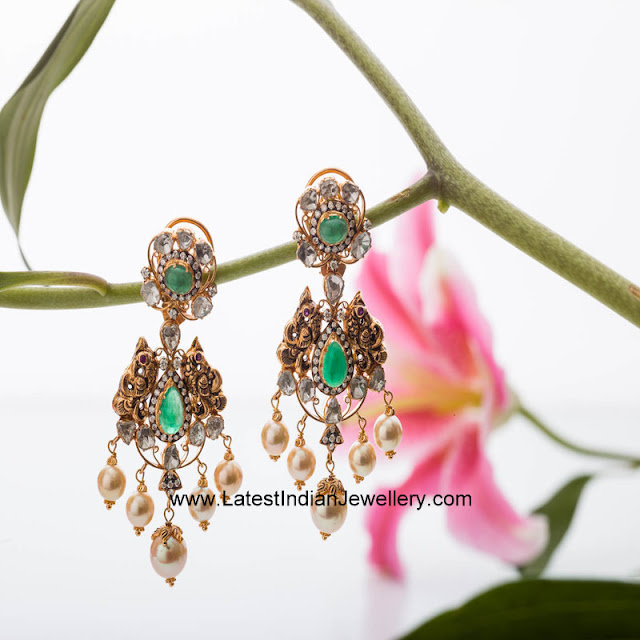 Nakshi Gold Earrings