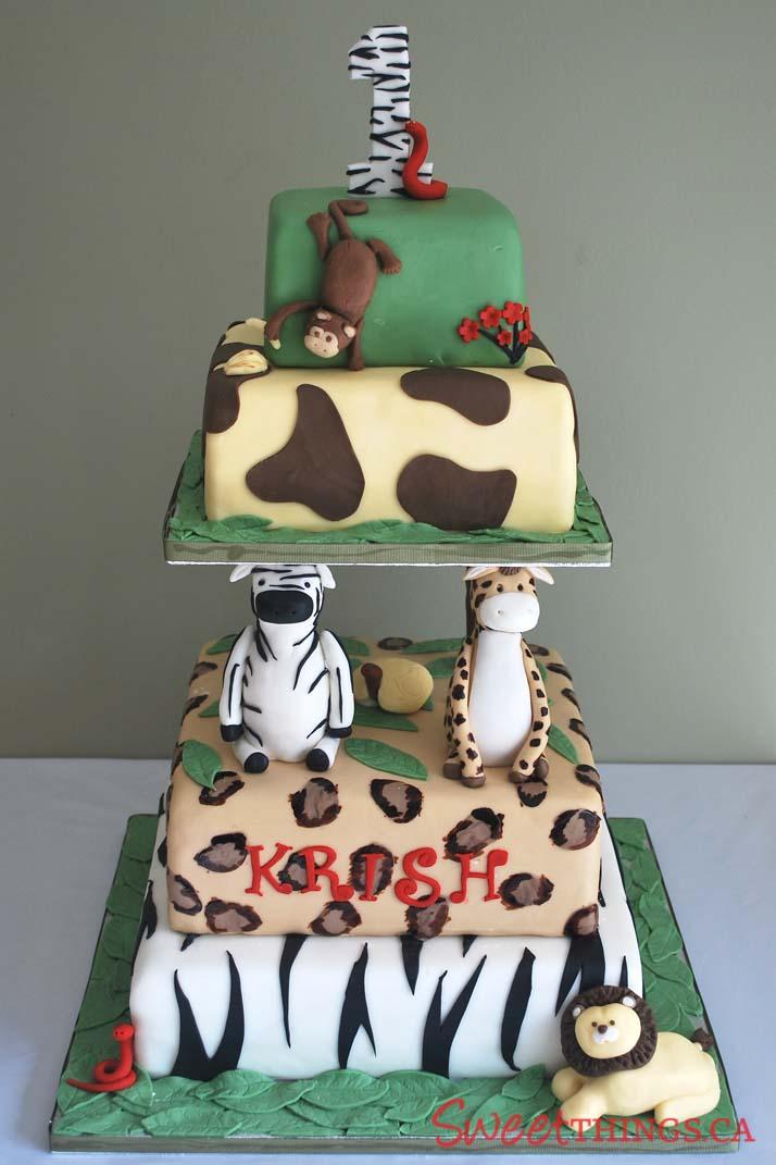 Sweetthings 1st Birthday Cake Safari Cake