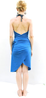 blue women's dress
