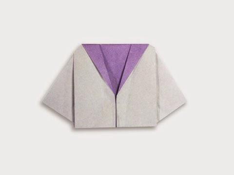 Cách gấp, xếp áo thủy thủ bằng giấy origami - Video hướng dẫn xếp hình quần áo - How to fold a Sailor
