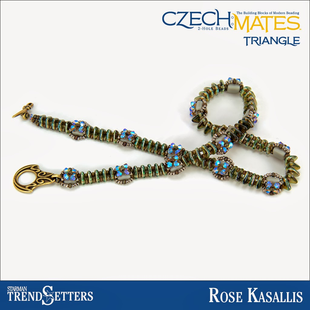 CzechMates Triangle bracelet by Starman TrendSetter Rose Kasallis