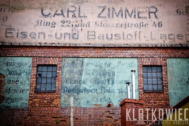 Nowa Ruda. Przedwojenna reklama w języku niemieckim firmy Carl Zimmer.