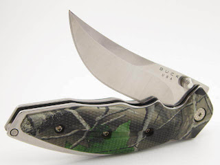 BUCK 415 FOLDING KALINGA PRO REAL TREE CAMO HANDLE & SHEATH NEW HUNTING KNIFE