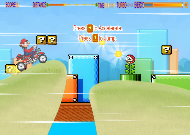 Super Mario Speed Bike, Super Mario Speed Bike game, Super Mario Speed Bike online game, Super Mario Speed Bike flash game