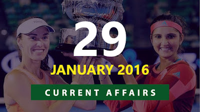 Current Affairs 29 January 2016