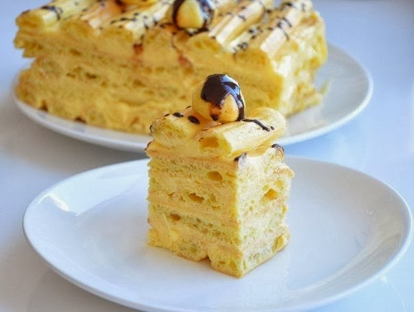 Рецепт торта из заварного теста с фото пошагово