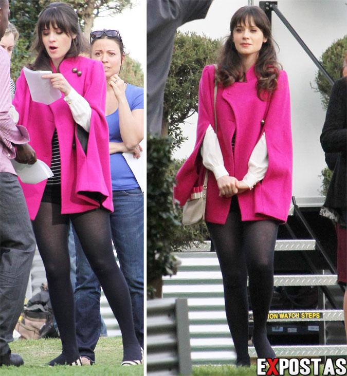 Zooey Deschanel: set de 'New Girl' em Beverly Hills - 22 de Janeiro de 2013
