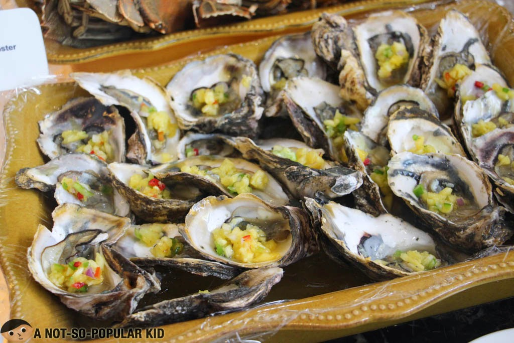 Oysters in the Lunch Buffet of F1 Hotel Manila