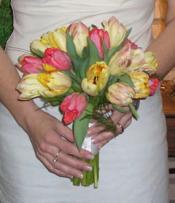 Parrot Tulip Bridal Bouquet by Stein Your Florist Co.