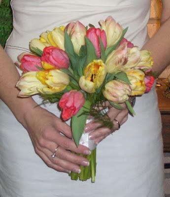 Parrot Tulip Bridal Bouquet by Stein Your Florist Co.