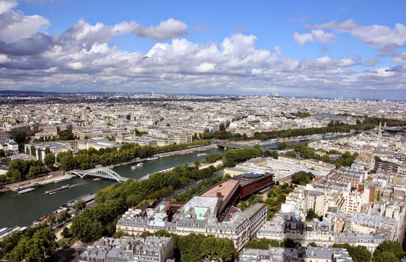 Vue depuis la tour Eiffel