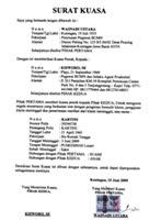 Download Contoh Surat Kuasa untuk Pengambilan Barang/Surat Berharga