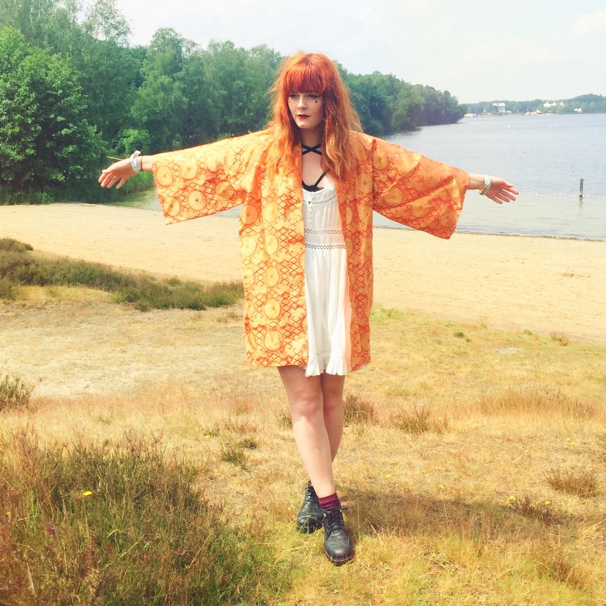 Superdry Smock Dress Vintage Kimono