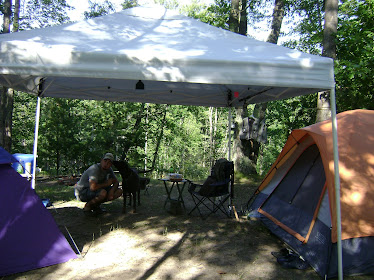 Camp on the Little Manistee River