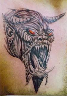 δαιμονας τατουαζ στηθος,τατουάζ στήθος, Demon Tattoos, Chest tattoos