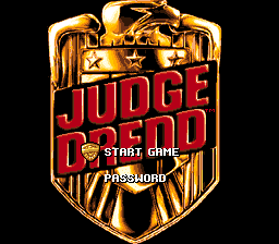 Judge Dredd video game 1995 Nintendo SNES title screen