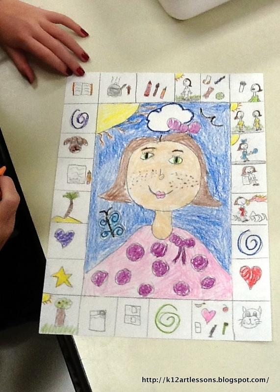 2nd 3rd grade self portraits art lesson plans for k 12