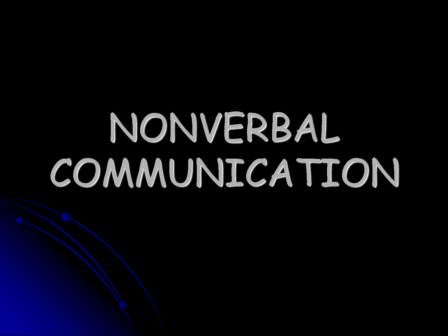 nonverbal comunication In fact, nonverbal behavior is the most crucial aspect of communication based on my own research, i would state that the amount of communication that is nonverbal varies between 60 and 90% on a daily basis.