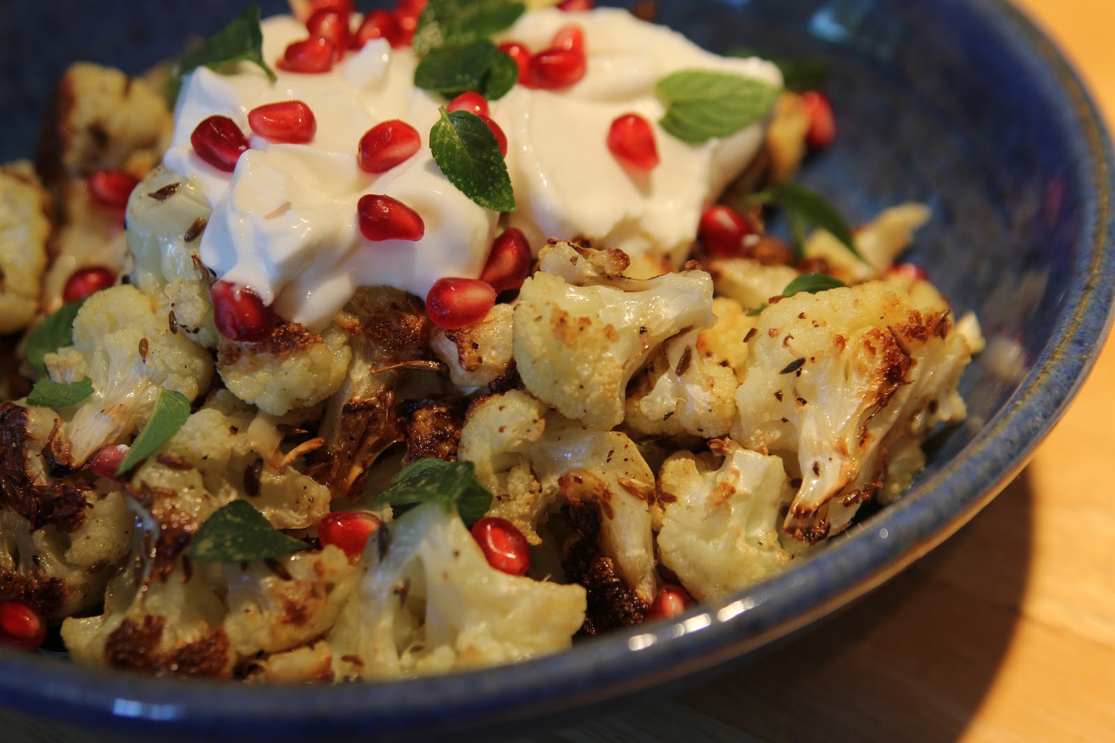 Cumin Seed Roasted Cauliflower With Salted Yogurt, Mint, And ...