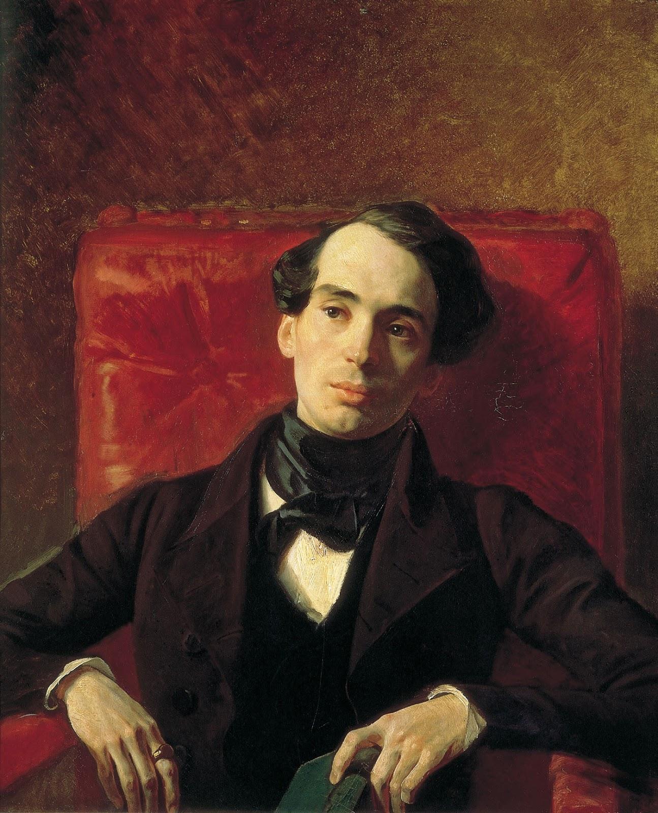Karl   riullov  Portrait  of  the  Writer  Aleksandr  Nikolayevich  Strugovschikov C
