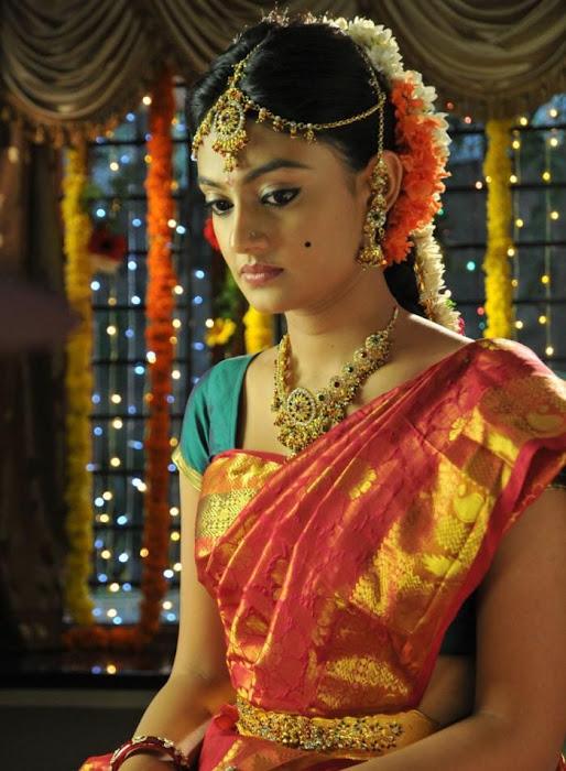 nikitha narayan looking in saree new