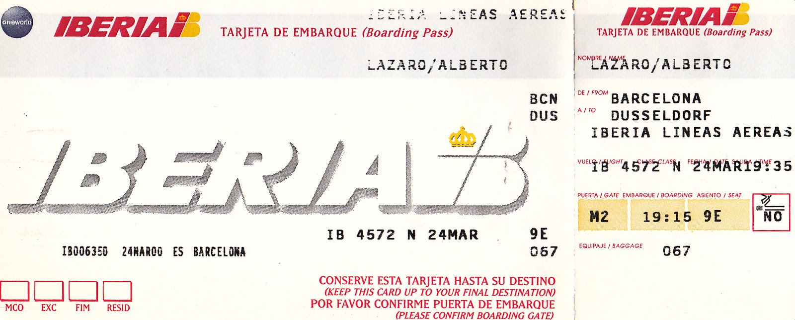 The traveler 39 s drawer iberia tarjeta de embarque para el for Billetes de avion baratos barcelona paris