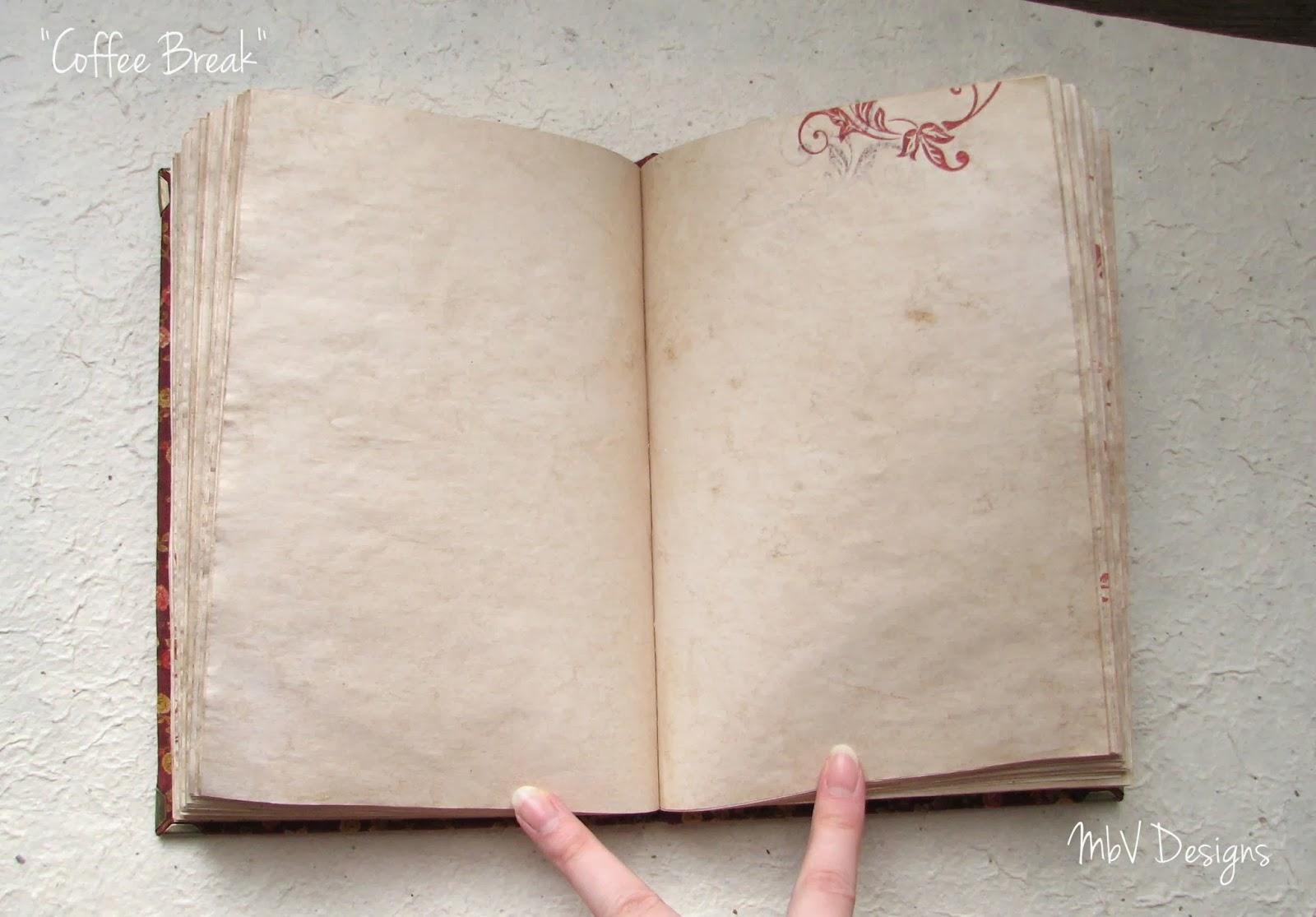 блокнот с состаренными страницами