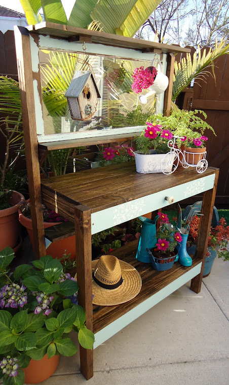 1930s Window Potting Table for Garden Themed Bridal Shower-SOLD