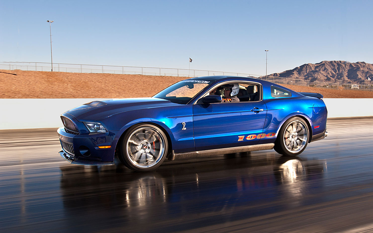 2014 mustang shelby at drag strip autos post