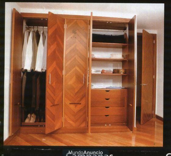 Muebles rusticos closet 20170825220728 for Closets finos madera
