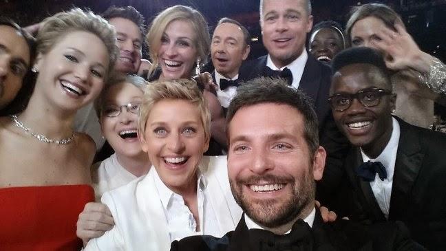 Ellen Degeneres, Twitter, Lupita Nyongo, Jared Leto, selfie, Whorrified,